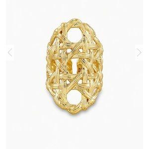 🆕KENDRA SCOTT Gold Natalie Statement Ring - S/M
